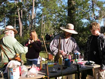 Youth hunting field day — primitive weapons demonstration.