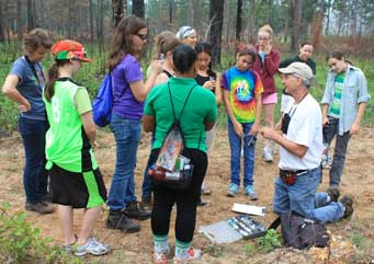 Cox bands a Bachman's Sparrow for FSU's SciGirls