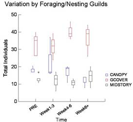 Trends for 3 Foraging Guilds