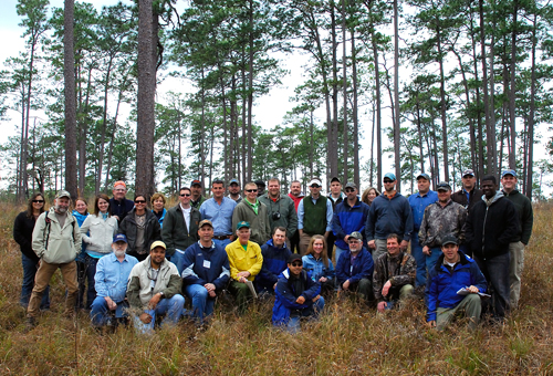 NRCS Course members and Tall Timbers Staff