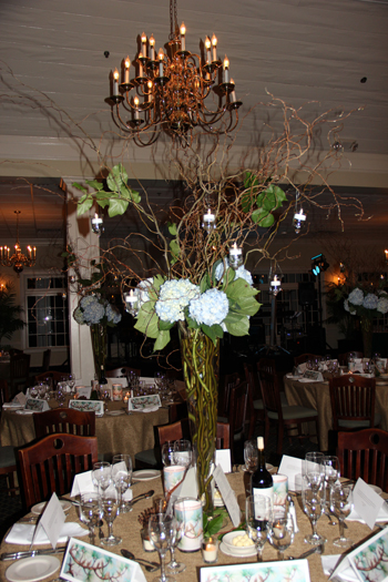 Table setting at Glen Arven for the Naturalists' Ball