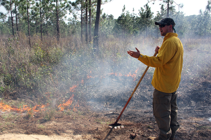 Theron Terhune teaching prescribed burning