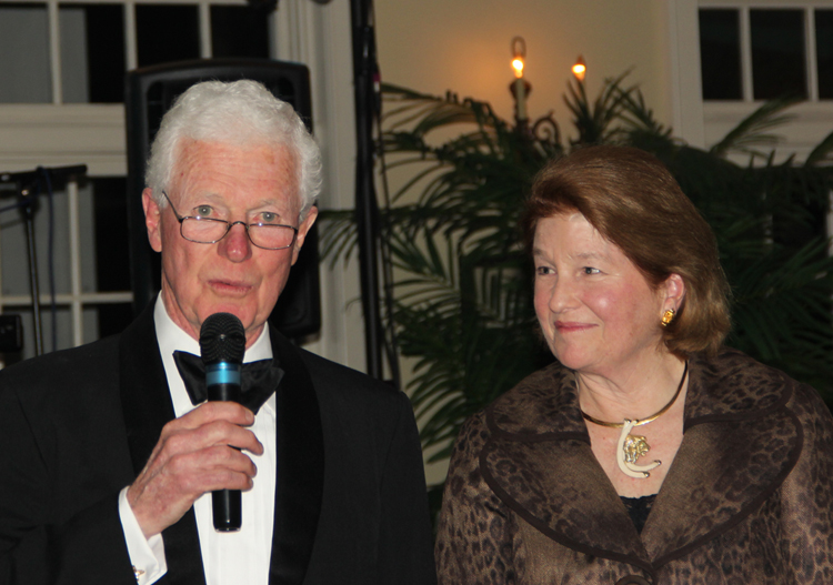 Tom Rankin and Daphne Wood at the Naturalists' Ball