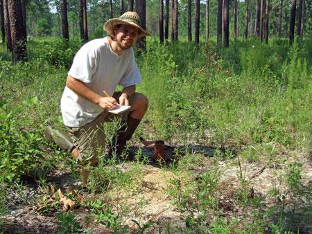 Tom Radzio at the Wade Tract Preserve