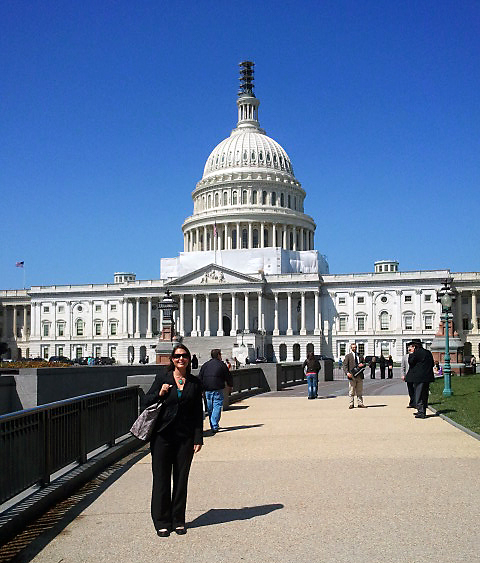 Angie Reid in front of the Capitol in Washington