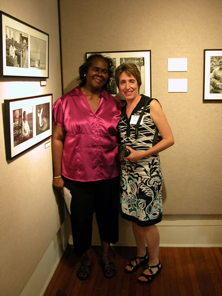L-R, Yvonne Jones Dorsey with Beate Sass at exhibit opening.