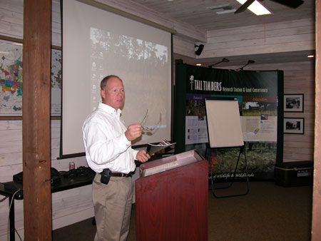 Jim Karels, Director of the Florida Division of Foresty speaking at the Public Lands Summit