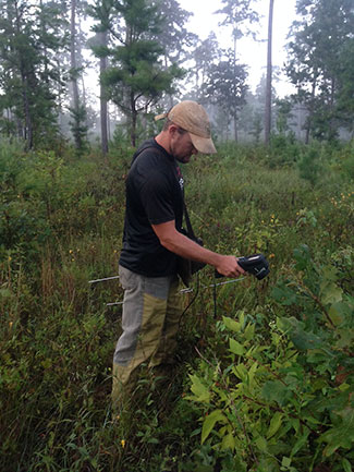 Kyle Lunsford with FLIR to count quail chicks