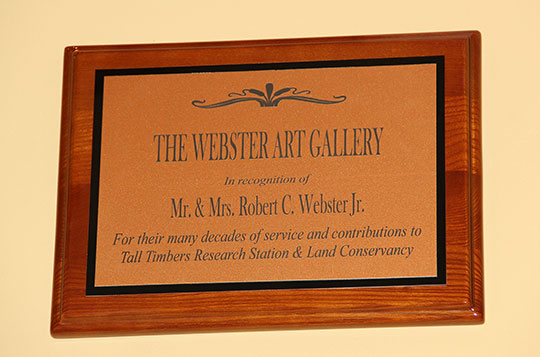 Webster Art Gallery Plaque