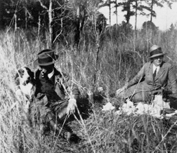 Henry and Genevieve Beadel having a picnic lunch during a quail hunt on Tall Timbers in 1926.