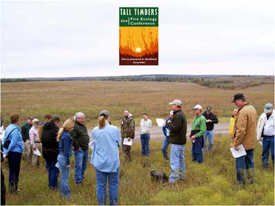 Field trip to TNC's Tallgrass Prairie Preserve in Oklahoma to learn about the fire-grazing interaction at the 23rd Tall Timbers Fire Ecology Conference.