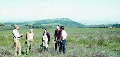 Ed & Betty Komarek visiting Dr. Winston Trollope in South Africa – 1970. this trip precipitated the 11th Tall Timbers Fire Ecology Conference – Fire in Africa.