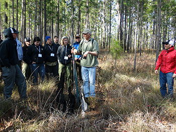 Jim Cox, Stoddard Bird Lab Director, discussed fire and Sparrows with participants in the PFTC February 2015 session.