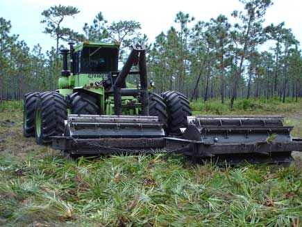 Mechanical treatments are sometimes necessary to restore grasslands