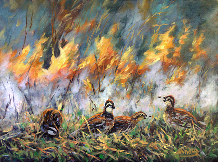 Painting - Burning Bounty by Peggy Watkins