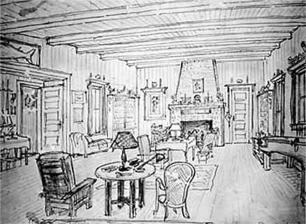 This sketch of the Beadel Room
