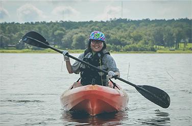 Woman Kayaking