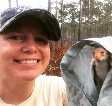 Graduate student with a Golden Mouse