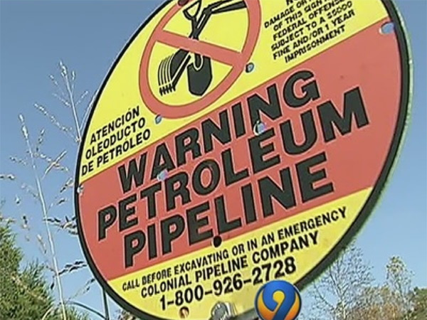 Warning Petroleum Pipeline
